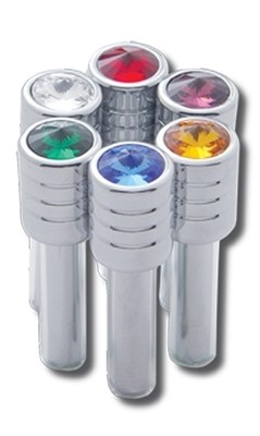 Chrome Door Lock Knobs - Different Colors