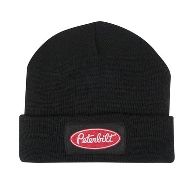 Peterbilt Long Knit Beanie Hat Black