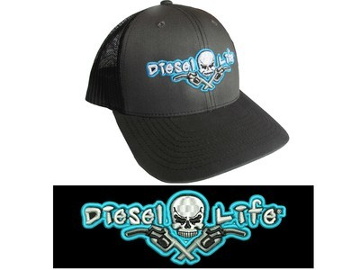 Diesel Life Charcoal / Neon Blue Snap Back
