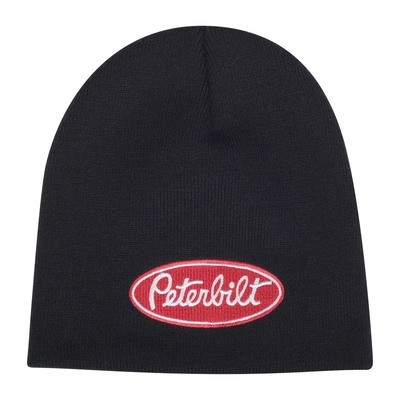 Peterbilt Black Knit Beanie