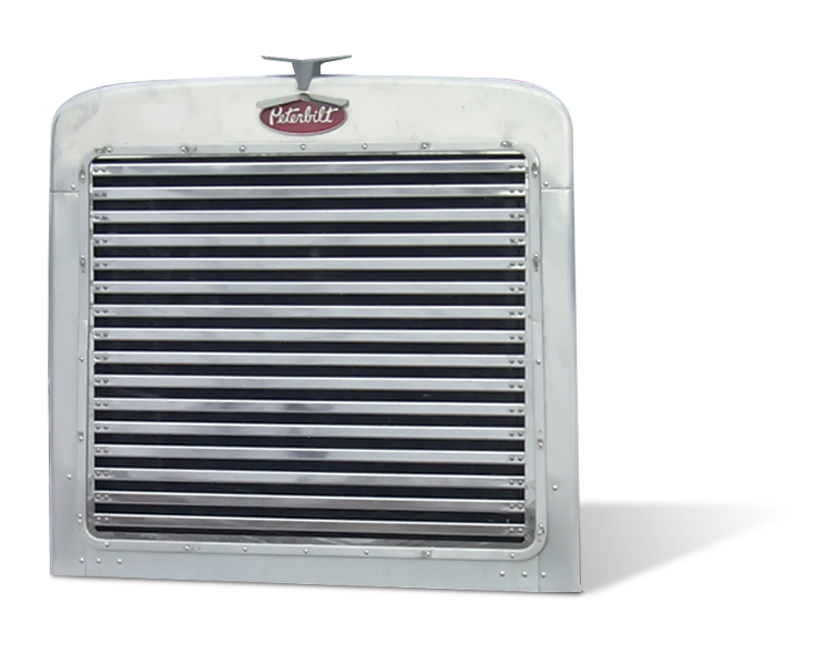 Peterbilt 359 Grill with 16 Horizontal Bars