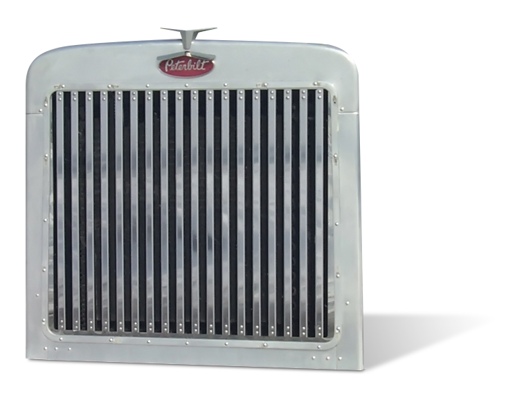 Peterbilt 379 Extended Hood Grill with 18 Vertical Bars