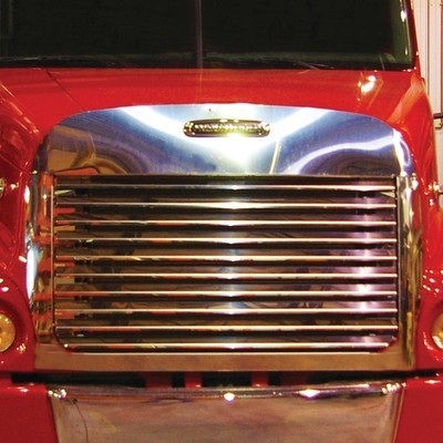 Hoodshield Bug Deflector, Louvered Grille & Surround Kit - 10 Bars for Freightliner Century Class
