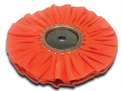 Airway Buffing Wheel Orange Ruffy Clear Dip 8 Inch