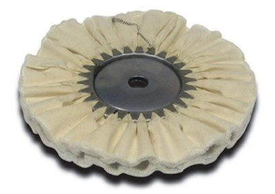 Airway Buffing Wheel White Domet Flannel 8 Inch