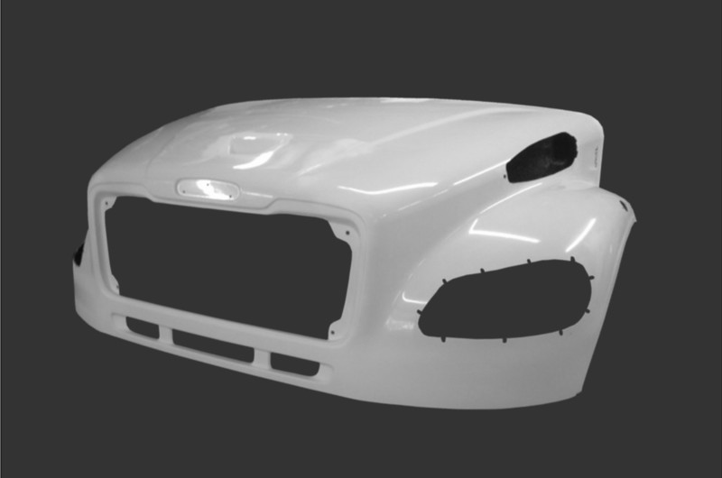 Hood with Bezel Option for Freightliner M2 W/Valence