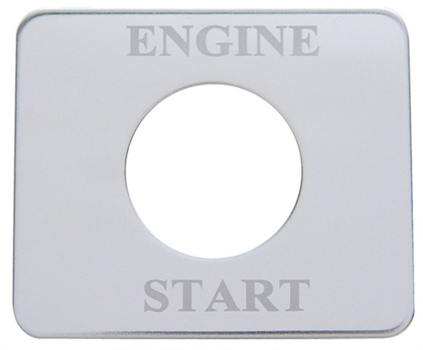Freightliner Stainless Steel Engine Start Switch Plate