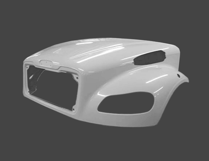 Hood without Bezel Option for Freightliner M2 106BBC & C2 Truck & Bus