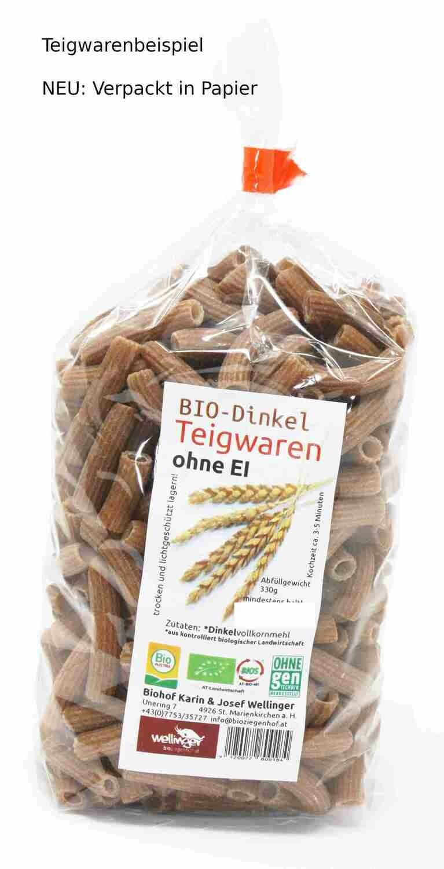 """BIO Dinkel Teigwaren ohne Ei """"HÖRNCHEN"""""""