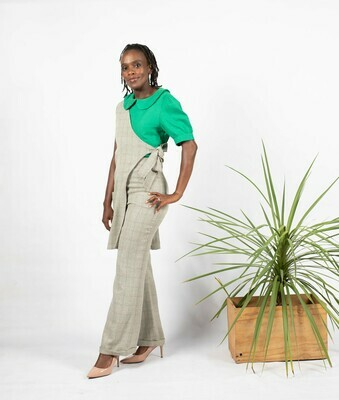 Asymmetrical Jacket Cotton Linen