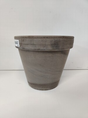 "6"" Brown Clay Pot"