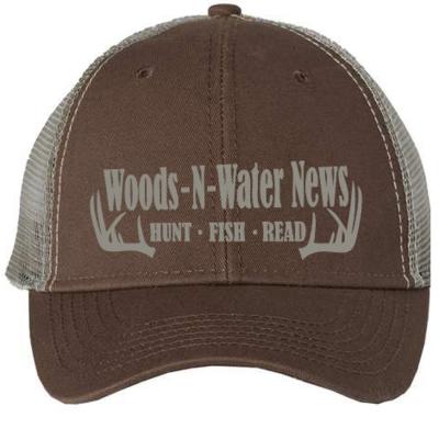 Embroidered Mesh Back Trucker Cap - Brown/Khaki