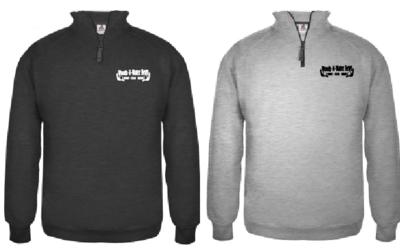 UNISEX Heavyweight 1/4 zip Sweatshirt - Premium Fleece Sweatshirt with Front Left Chest Screen Print