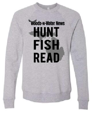 UNISEX Athletic Heather - Sponge Fleece Raglan Sweatshirt with Grey and Black Screenprinted full front  logo