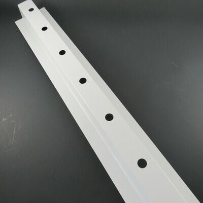 Light-Track Steel - 1 1/4 in. X 5 ft. Length for Bullet & Square Pixels    - White