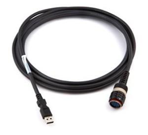 Volvo VOCOM I or VOCOM II datalink adapter to the computer via a 88890313 USB Cable
