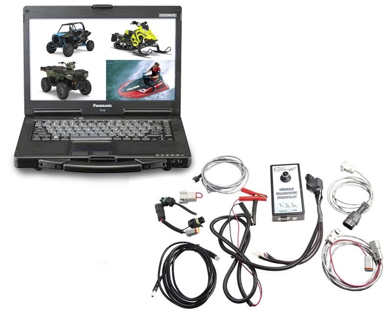 Marine Diagnostic Kit PWC Jetski Snowmobile ATV Dealer Level Toughbook Diagnostic Kit