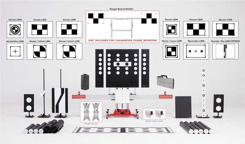 Autel Maxisys ADAS Advanced Calibration Complete Diagnostic Target Package  Frame and Targets to include the ADAS Tablet
