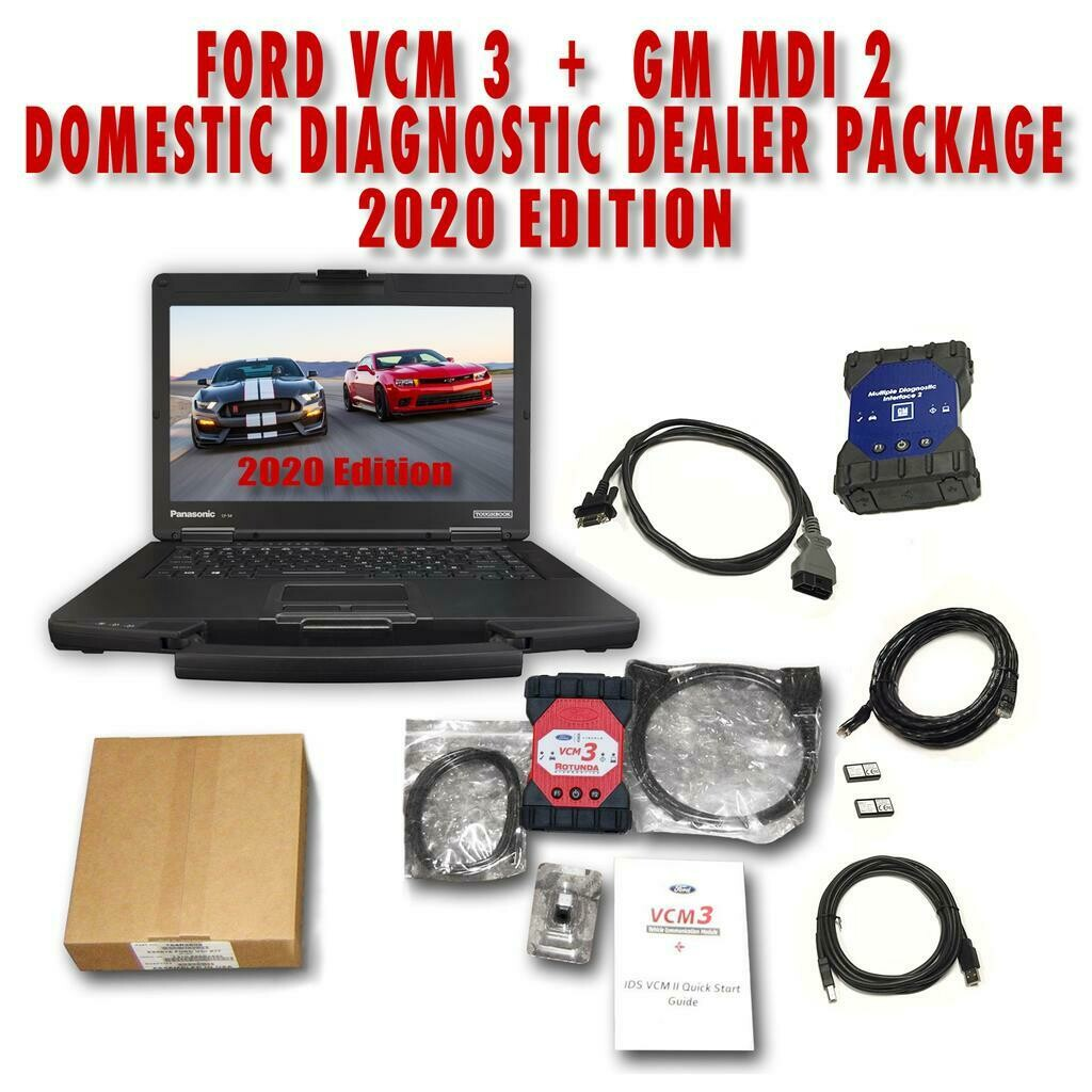 GM MDI 2 Ford VCM 3 IDS Combination Domestic Dealer Toughbook Package