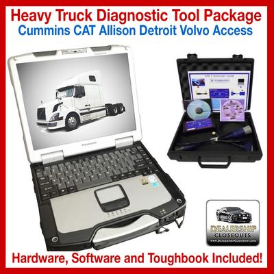 Universal Diesel Diagnostic Scanner Laptop Tool - CAT Cummins Detroit Volvo Mack & DPA 5