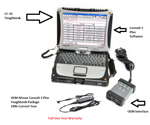 Nissan Consult 3 Plus OEM Dealer Package 1996- Current Year