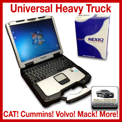 Universal Heavy Truck Diagnostic Toughbook Package Nexiq 125032 W/Software CAT Cummins Wabco International Detroit Diesel