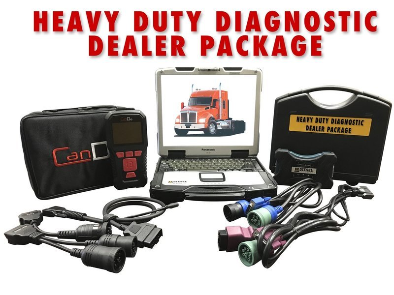 Universal Diesel Diagnostic Package CAT CUMMINs DETROIT  w/ DPF REGEN 124032 Drewtech