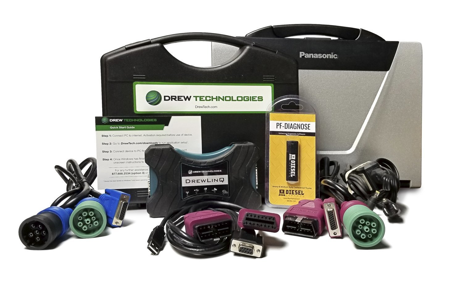 Drewlinq Heavy Duty Truck Diagnostic Kit