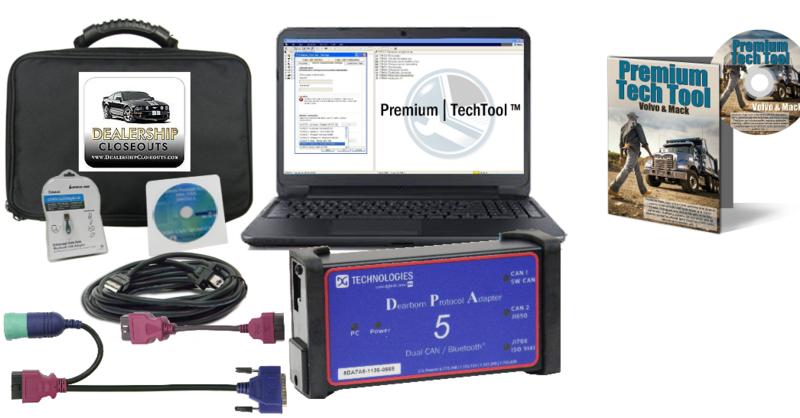 Mack & Volvo Premium Tech Tool with Diesel Diagnostic Laptop