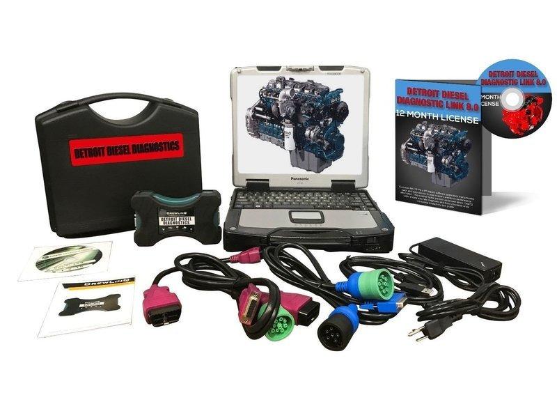 Detroit Diesel DDDL 8.0 Dealer Diagnostic Toughbook Package Nexiq 124032