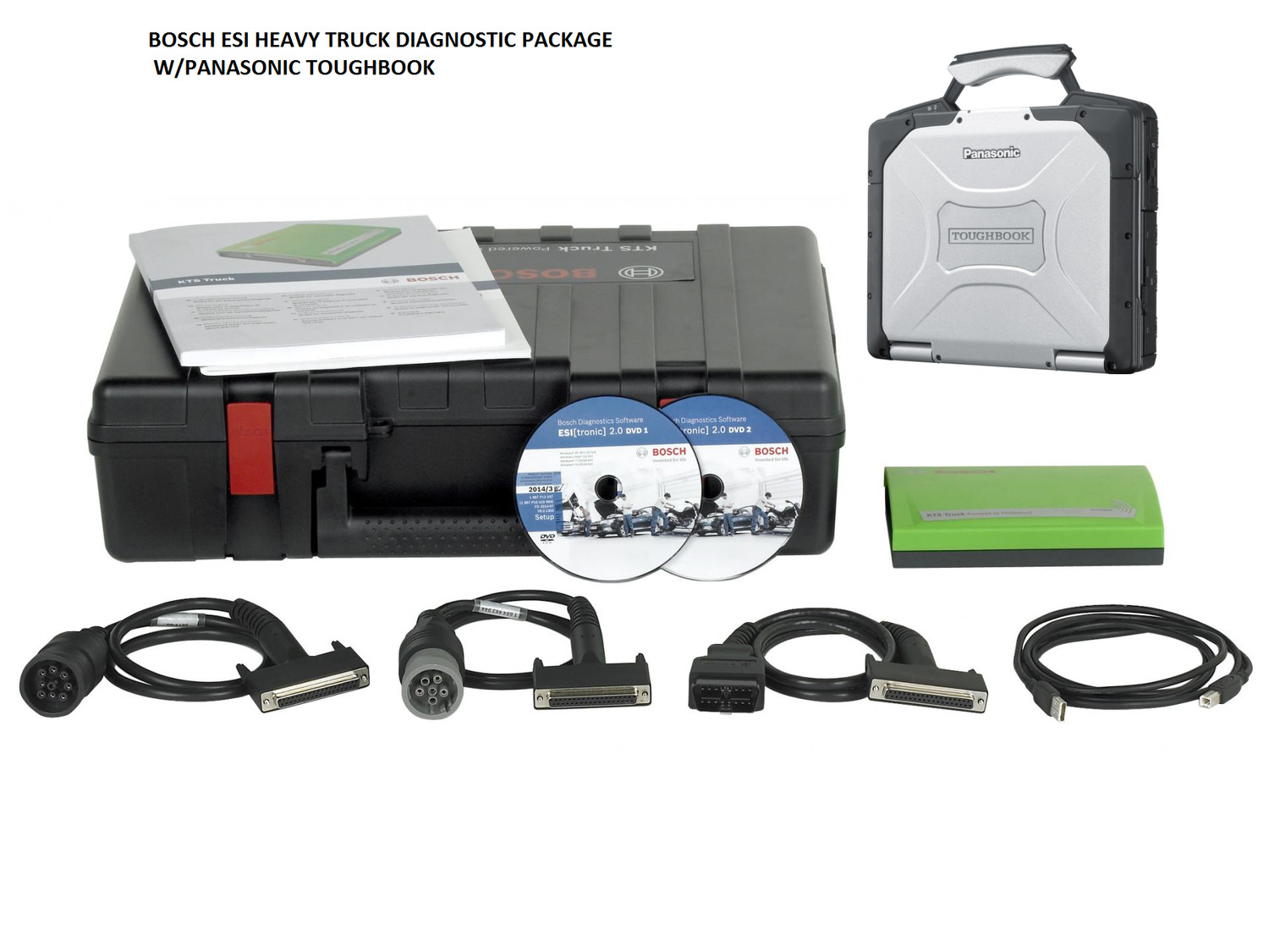 Bosch ESI Truck Scanner Diagnostic Tool with Laptop