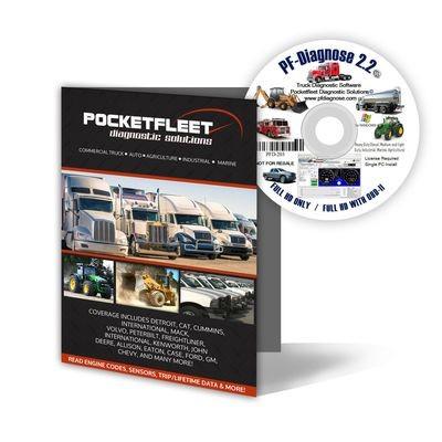 Heavy Duty Truck Diagnostic Software PF Diagnose CAT Cummins International Etc