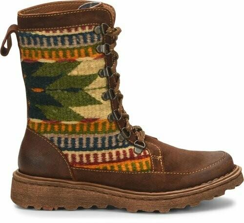 Born BR0013906  Oriana Lace Up Boot W/Fabric