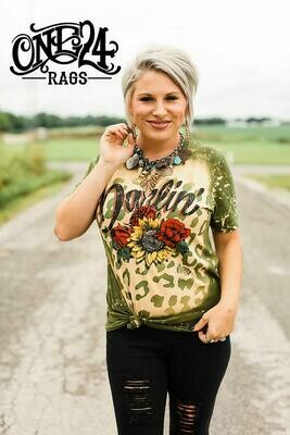 One 24 Rags Olive Darlin' Tee Shirt SS