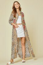 Savanna Jane 93962-L Leopard  Embroidered Dress