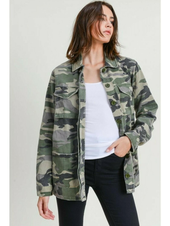Jodifl JJ1045 Camo LS Jacket 2 Pockets