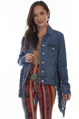 Scully HC711 Denim Jacket W/Fringe