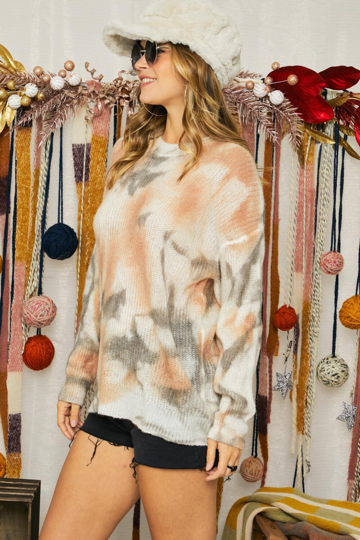 Adora CESW2272 Tie Dye Sweater Knit