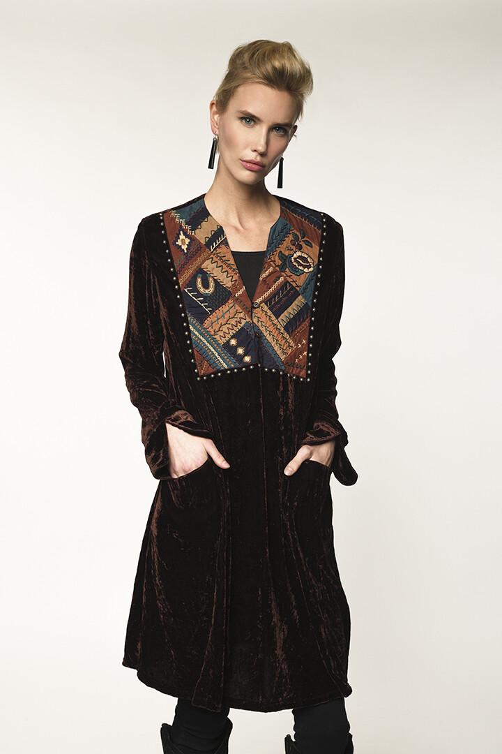 DD Ranch D1251 Crazy Quilt Dress - Oxblood