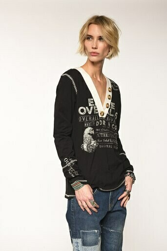 DD Ranch T3115 Eagle Overall Tee - Black