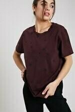 WL18-1779 Distressed Hem Star T Shirt