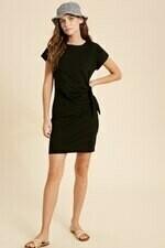 Wishlist WL20-3702 Knit Mini Dress Self Tie