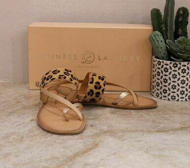 Chinese Laundry Reeba Pony Leopard Sandal