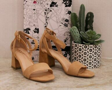 Chinese Laundry Big Heart Suede Heel Sandal