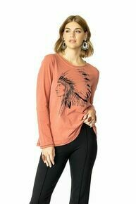 Double D T3348 Sunday Feathers Top