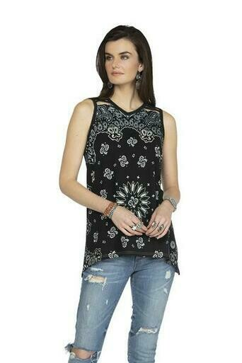 Double D T3258 July Bandanna Tank