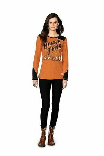 Double D Ranch T3318 Honky Tonk Cowgirl Tee