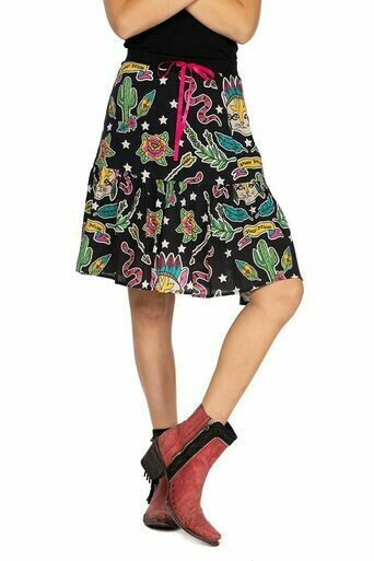 Double D Ranch S1695 Honky Tonk Cat Skirt