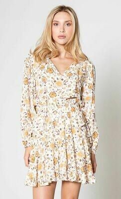 Dear John Abella Long Slv Skirt Waist Dress