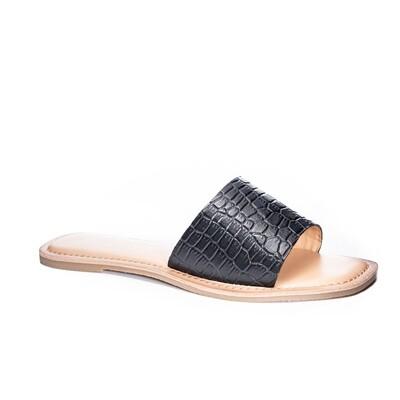 Chinese Laundry Regina Croc Leather Slide